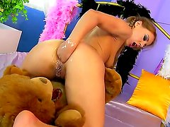 Slutty pretty Nikky Thorne fingers her meat holes before fisting them for the ultimate pleasure
