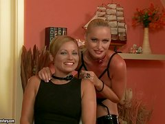 Kathia Nobili and Szilvia Lauren lick pussies before sharing a cock