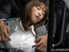 Sleepy Momo Ogura gets fucked deep in her hot pussy