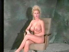 Blonde models fake tits and her favorite bra