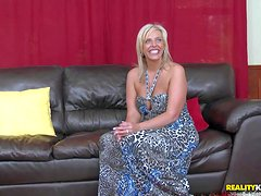 Arousing mature blonde milf with big juicy hooters and hot