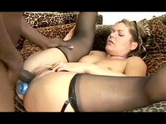 Milf wears glasses and loves black cock