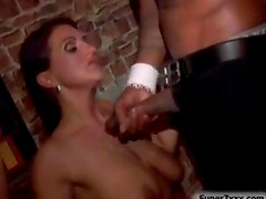 Club orgy with fucking and cumshots