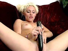 Solo with a total blonde bimbo