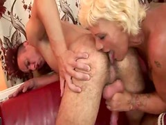 Hairy mature is willing to do it all for him