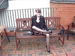 SHOWING OFF MY LEGS IN THE PUB