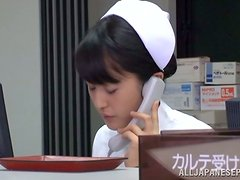 Petite nurse gets nailed in the laboratory