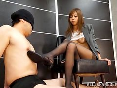 Hot office sex with a luscious secretary Honami