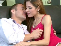 Sexy babe gives her employer a mouth-watering blowjob