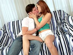 Playful redhead teen is losing her mind on that cock