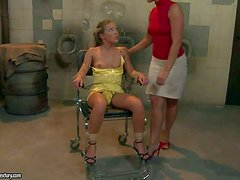 Steaming hot arousing experienced blonde mistress Kathia Nobili with delicious