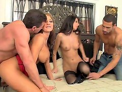 Here is the foursome sex action where Nikki Daniels and Nikki Sexx are changing hubbies