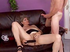 granny gets caught toying pussy