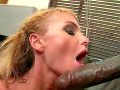Ebony coach is fucking his naughty blonde