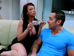Horny housewife Nicki Hunter seduces the guy while her hubby is out