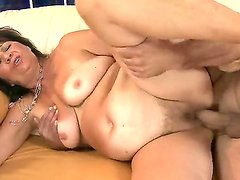 Sexy and sweet granny enjoys and moans in soft