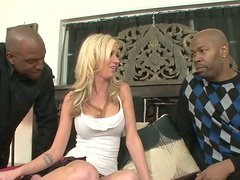 Doll face is fucking furiously in a hardcore interracial threesome