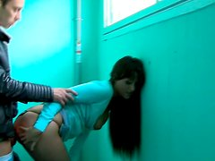 Sextractive brunette hussy gets banged in doggy pose