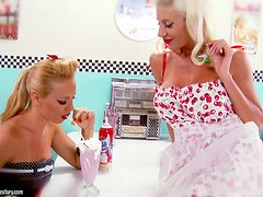 Puma Swede and Sandy fondles their oiled up bodies
