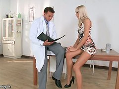 Erica Fontes seduces a doctor and makes him fuck her sweet snatch