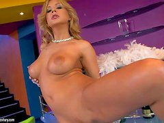 Attractive skillful and seductive blonde bombshell Dorothy Black with big