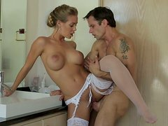 Whorewife Nicole Aniston fucks best man at the wedding day
