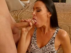 Breath-taking beauty Vanilla DeVille is getting rammed bad in a missionary position