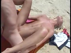 Sexy orgy on the beach with super hot chicks