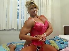 Muscular Woman with Lingerie