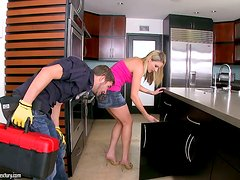 The classic repairman story with a smoking hot siren