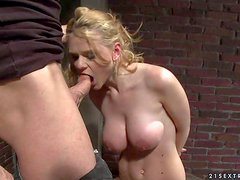 Juicy ass slave blonde Natasha Brill gets her mouth and