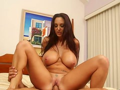 Sex-starved babe Ava Addams rides his cock like she's a crazy cowgirl