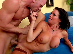 Busty milf gets nailed by horny boss
