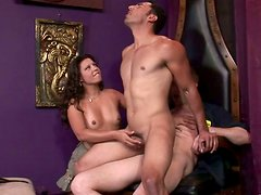 Horny dude is riding a hard stick passionately