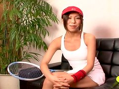 Sporty not pretty Asian Kaoru Hayami has an interview to become a hooker