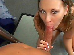 Ashley Nykole rides on the pipe of Rick Masters