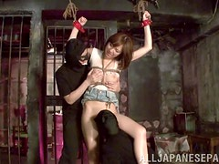 Hikaru Shiina gets tied up and tortured by two masked dudes
