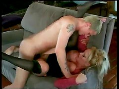 Huge tits milf makes his young cock feel welcome