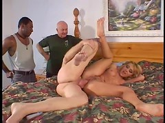 Tramp stamp wife gets anal hardcore