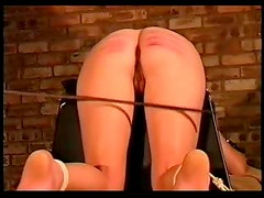 Girl takes a genuine and painful caning