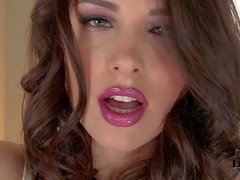 Zafira is a glamorously sexy brown haired beauty that shows