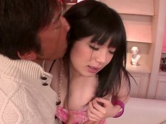 Japanese sweetheart Hina Maeda gets her pussy expertly eaten out