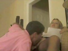 MILF in pantyhose licked clean and stuffed with cock