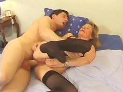 Milf fucked in her asshole after BJ
