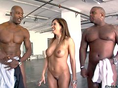 Petite cheep looking brunette Francesca Le with big firm hooters