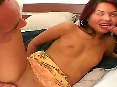Amazing threesome with a nasty brunette