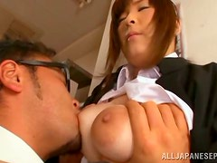 Japanese bitch Mizuki enjoys sucking a dick in the library