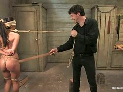 Superb Jade Indica gets tied up and pounded rough
