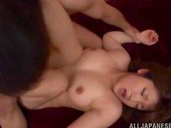Cute Japanese chick gets fucked in acrobatic poses