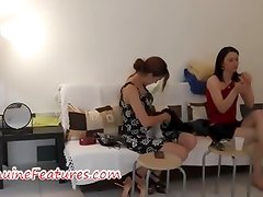 Sexy czech friends in hot backstage clip
